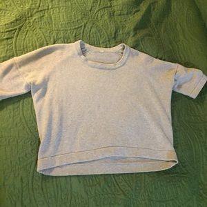 Lululemon 8 gray boxy sweater small stain but cute